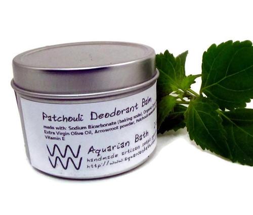 2 oz Patchouli Deodorant Balm AquarianBath.com Plastic Free