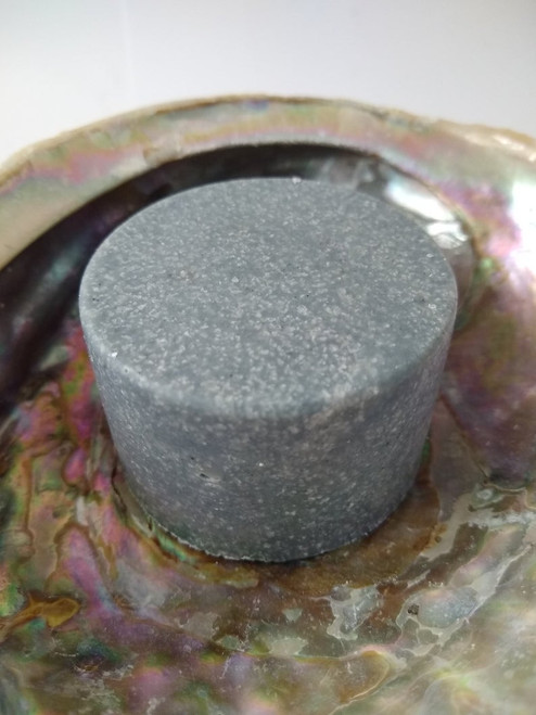 Round sea salt soap