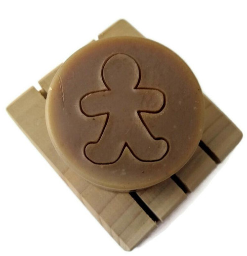 Gingerbread soap, round