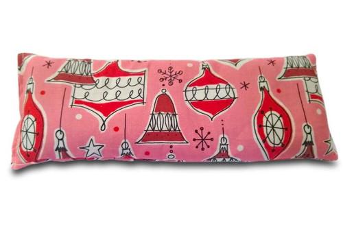 Pink and Red Christmas Ornament Yoga Eye Pillow