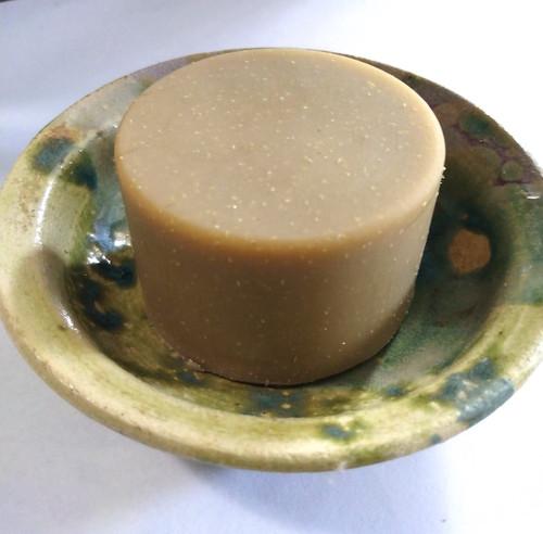 Round Sulfur soap by Aquarian Bath