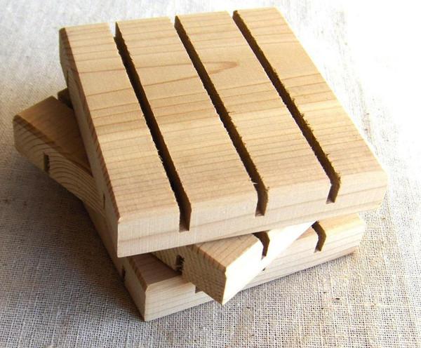 Cedarwood rectangle soap deck