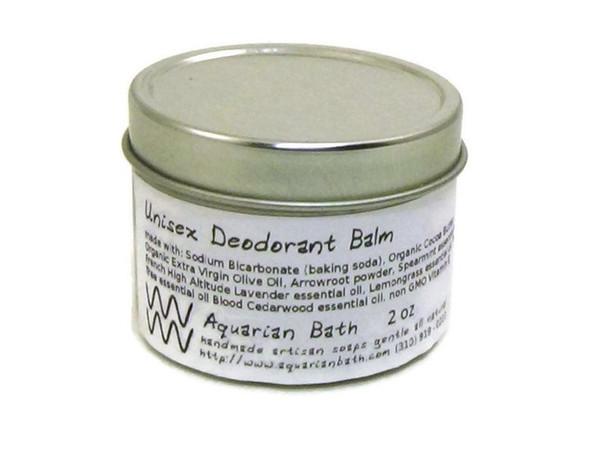 Plastic Free Deodorant Balm by Aquarian Bath 2 oz Unisex