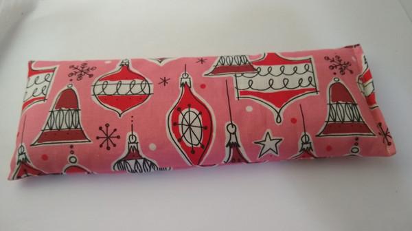 Pink and Red Christmas Oranment Yoga Eye Pillow