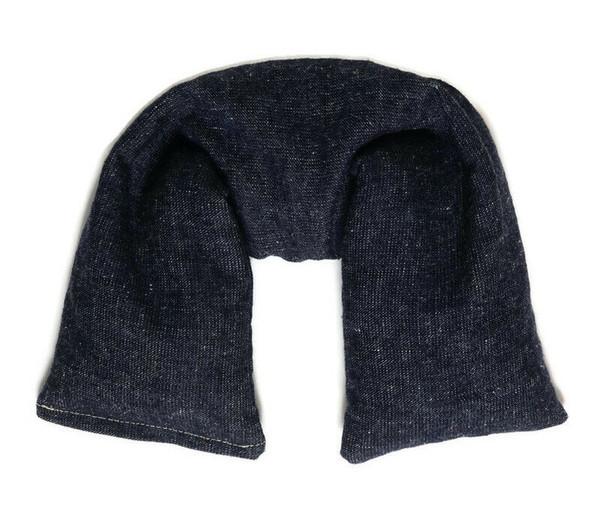 Hemp Organic cotton Denim Microwavable Neck Wrap