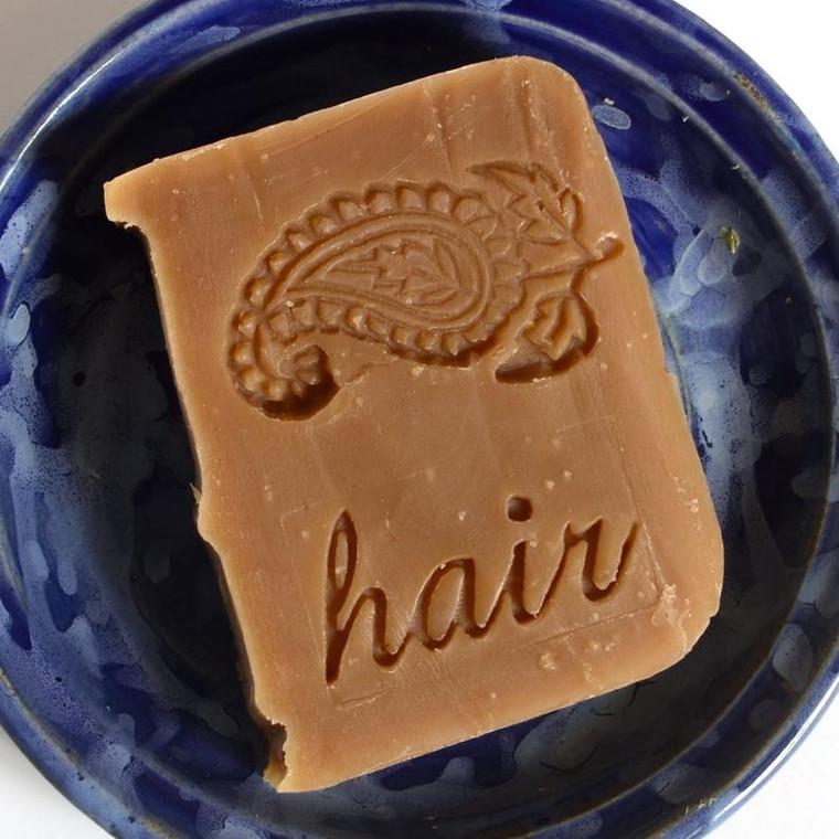 Henna shampoo bar, unscented, does not deposit color, vegan, plastic free, palm oil free