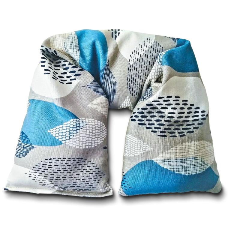 Microwavable Neck Wrap by Aquarian Bath. Organic cotton canvas.