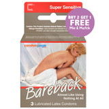 Contempo Bareback  Condoms. Buy 2, Get 1 Free!