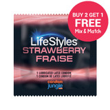 LifeStyles Strawberry Flavor - Buy 2, Get 1 FREE