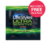 LifeStyles Ultra Sensitive Condoms - Buy 2 Get 1 Free