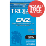 Trojan ENZ Lubricated (front) - Buy 2 Get 1 Free.