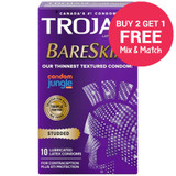 Trojan Studded BareSkin Condoms - Buy 2, Get 1 Free