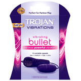 A front side image of the Trojan Vibrations Vibrating Bullet product retail box.