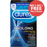 Durex Prolong condoms - Buy 2, Get 1 Free (Mix & Match)