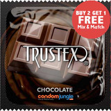 Trustex Chocolate Flavor Lubricated Condoms.