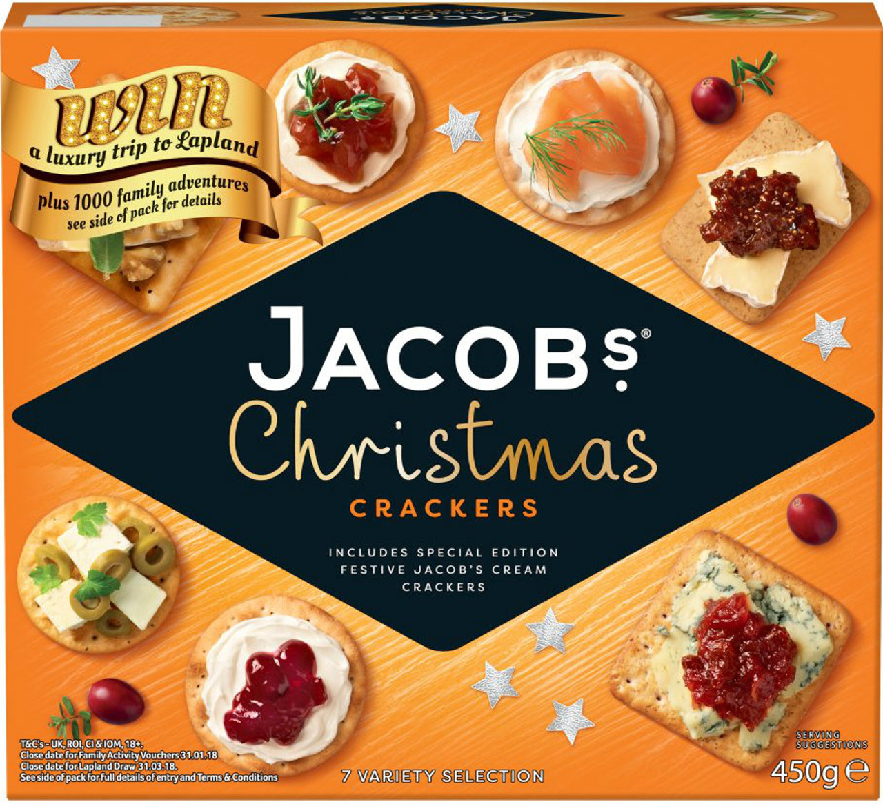 Best Christmas Crackers 2019 Jacobs Festive Christmas Crackers 450g *BEST BEFORE AUGUST