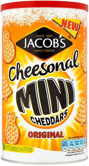 Jacobs Cheesonal Mini Cheddars Caddy 260g