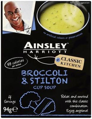 Ainsley Harriott Cup Soup 3 Sachet Pack - Broccoli & Stilton 72g