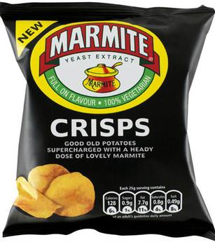 Walkers Marmite Crisps 32.5g - 8 Pack