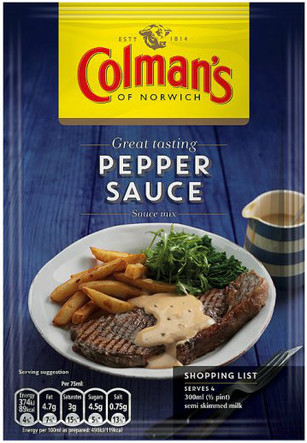 Colmans Pepper Sauce 40g
