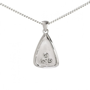 Triangle Pendant with Raised Warrior