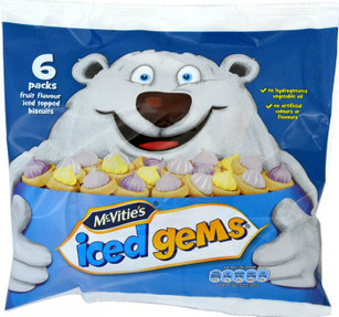 McVities Iced Gems 25g - 6 Bag Pack