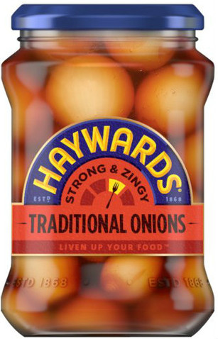 Haywards Strong & Zingy Traditional Pickled Onions 400g