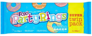 Fox's Party Rings Twin Pack 250g