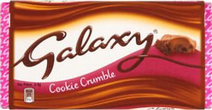 Galaxy Cookie Crumble Bar 114g