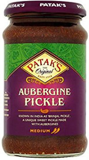 Pataks Brinjal Pickle (Aubergine) Jar 312g