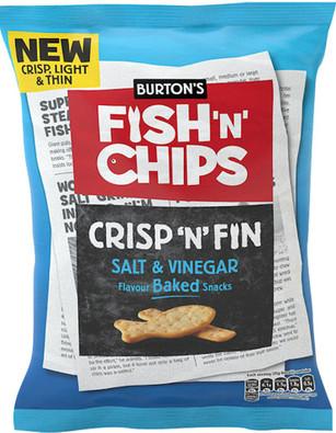Burtons Fish & Chips Salt & Malt Vinegar 150g