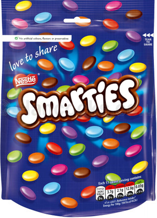 Nestle Smarties Pouch Bag 105g