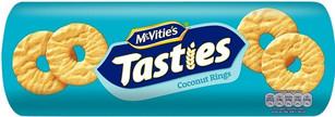 McVities Tasties Coconut Rings 300g