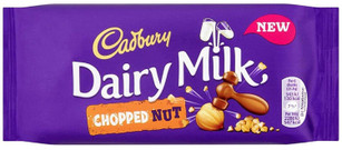 Cadbury Dairy Milk Chopped Nut - Milk Chocolate with Hazelnuts - 95g
