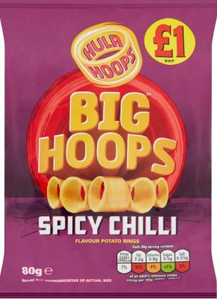 Big Hula Hoops Spicy Chilli 80g