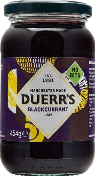 Duerrs Blackcurrant Jam 454g
