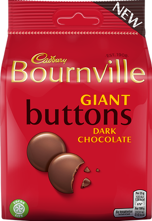 Bournville Dark Chocolate Buttons 95g