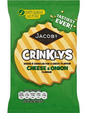 Jacobs Mini Cheddars Crinklys Cheese & Onion 50g