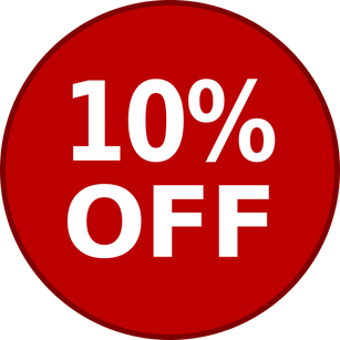 10% Off Your Order - Discount Applied During Checkout