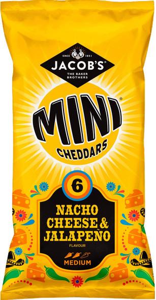 McVities Mini Cheddars Nacho Cheese & Jalapeno 6 x 25g Packs