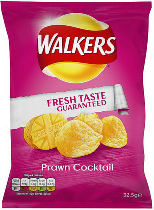 Walkers Prawn Cocktail Crisps 12 Pack