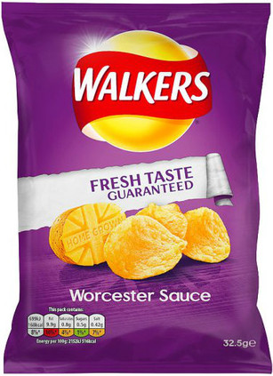 Walkers Worcester Sauce Crisps 12 Pack