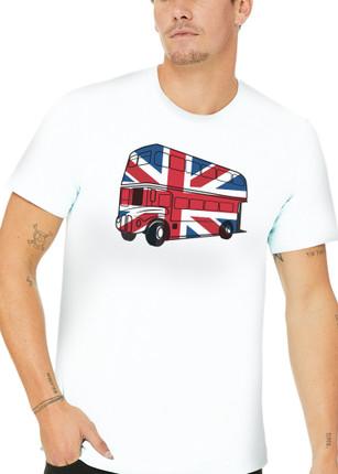 Ladies London Bus T-Shirt - White