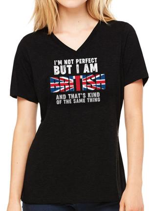 Ladies Not Perfect T-Shirt - Black