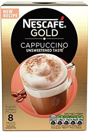 Nescafe Gold Cappuccino Unsweetened - 8 Sachet Pack 114g