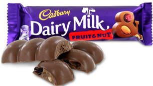 Cadbury Fruit & Nut Bar 49g - 8 Pack