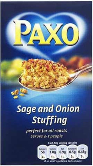 Paxo Sage and Onion Stuffing 85g