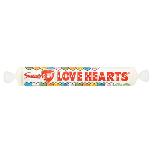 Swizzels Matlow Giant Love Hearts Roll 39g