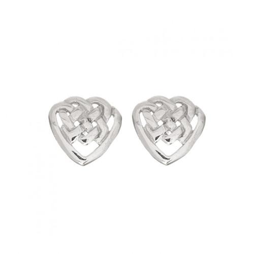 Celtic Heart Shaped Knot Earrings