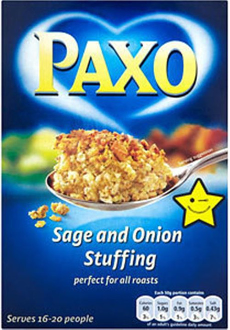 Paxo Sage & Onion Stuffing Large Box 340g